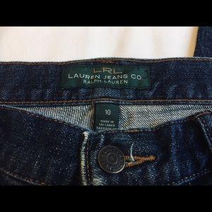 LAUREN RL High Rise dark rinse Capri length jeans